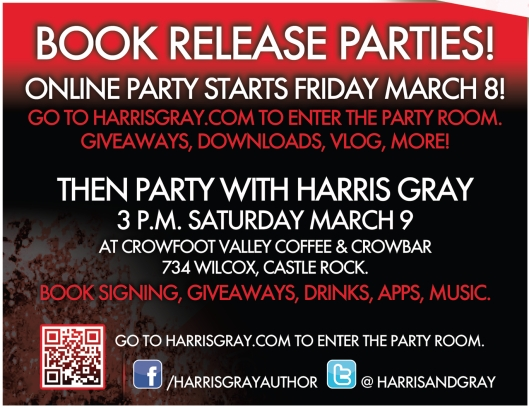 Vampire Vic by Harris Gray Release Party Invite